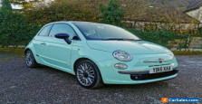 Fiat 500 TwinAir Cult / Smooth Mint Green / Leather / Low Miles / 1 owner / FSH