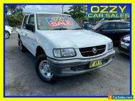 2002 Holden Rodeo TFR9 MY02 LX White Manual 5sp M Crew Cab P/Up