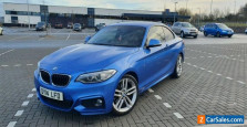 BMW 220d M Sport Coupe 184hp Blue FSH Automatic High Spec Pro Nav Leather Xenon