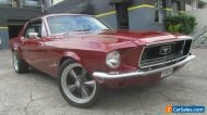 1968 Ford Mustang Red Automatic 3sp A Hardtop