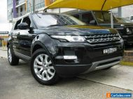 2014 Land Rover Range Rover Evoque LV MY14 TD4 Pure Black Automatic 9sp A Wagon