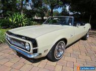 1968 Chevrolet Camaro Convertible 350ci V8 Auto Window Sticker