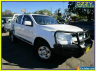 2014 Holden Colorado RG MY14 LX (4x4) White Automatic 6sp A Crew C/Chas