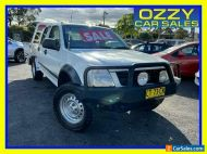 2003 Holden Rodeo RA LX (4x4) White Manual 5sp M Crew Cab P/Up