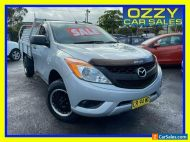 2013 Mazda BT-50 MY13 XT (4x2) Silver Cab Chassis
