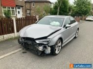 Audi A3 Saloon 2.0TDI S Line 2015 Damaged Repairable Salvage Cat N 58K Silver