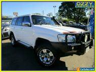 2010 Nissan Patrol GU VII ST (4x4) White Automatic 4sp A Wagon