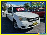 2009 Ford Ranger PK XL (4x2) White 5 SP AUTOMATIC Dual Cab Pick-up