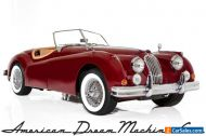 1957 Jaguar XK Burgundy Roadster 4-speed