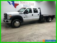2016 Ford Super Duty F-450 DRW XL Diesel Flatbed 6 Passenger Towing Work Truck