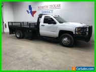 2018 Chevrolet Silverado 3500 Diesel Dually Flat Bed Work Truck Touch Scree