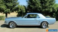 1966 FORD MUSTANG,COUPE,SILVER BLUE,AUTO,POWER STEER, AIR,CON,CONSOLE.NEW LOTS