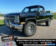 1986 Chevrolet C/K Pickup 1500 Silverado Shortbox 4x4, 305ci V8, Auto, AC, Black