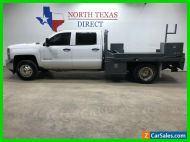 2015 Chevrolet Silverado 3500 4x4 Diesel Dually Skirted Flat Bed Chrome Work T