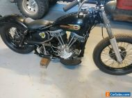1958  Harley Panhead dual carb custom motorcycle