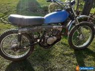 suzuki ts185 running motorbike with v5  1972 restoration project manchester