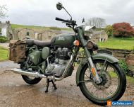19 ROYAL ENFIELD 500 BULLET CLASSIC EFI ABS ONLY 738 MILES PANNIERS PILLION SEAT