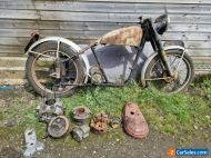 1950 Norton Es2 plunger barn find project with V5c