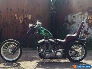 Harley Davidson Custom Chopper, Springer, Open Primary, Bobber, Rocker, Flamed