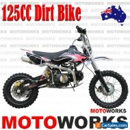 MOTOWORKS 125CC DIRT TRAIL PIT MOTOR 2 WHEELS PRO BIKE Kick start pink
